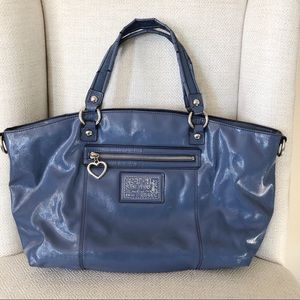 Coach Blue Daisy Liquid Gloss Bag M1295-F23402